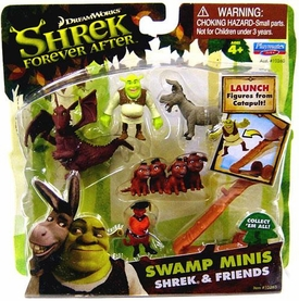 Shrek Forever After Swamp Minis Figure Set Shrek & Friends [Includes Red Dragon!]
