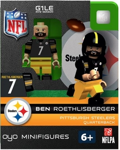 OYO Football NFL Building Brick Minifigure Ben Roethlisberger [Pittsburgh Steelers]