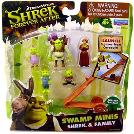 Shrek Forever After Swamp Minis Figure Set Shrek & Family