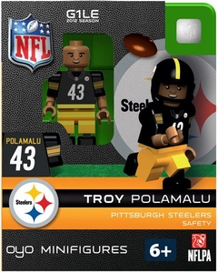 OYO Football NFL Building Brick Minifigure Troy Polamalu [Pittsburgh Steelers]