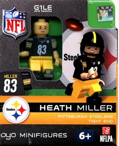 OYO Football NFL Building Brick Minifigure Heath Miller [Pittsburgh Steelers]