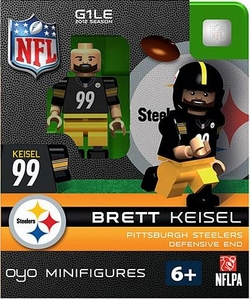 OYO Football NFL Building Brick Minifigure Brett Keisel [Pittsburgh Steelers]