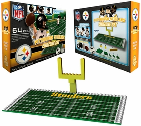 OYO Football NFL Generation 1 Team Field Endzone Set Pittsburgh Steelers