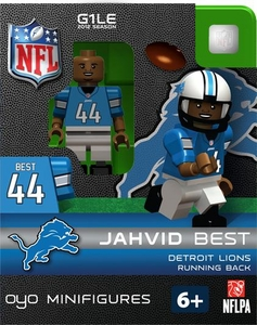 OYO Football NFL Building Brick Minifigure Jahvid Best [Detroit Lions]