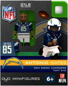 OYO Football NFL Building Brick Minifigure Antonio Gates [San Diego Chargers]