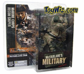 McFarlane Toys Military Soldiers Series 1 Action Figure U.S. Marine Corps Recon Sniper (*Random Ethnicity)