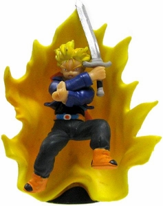 Dragonball Z Japanese Mini 2 Inch PVC Figure Super Saiyan Trunks with Sword [Energy Aura]