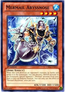 YuGiOh Zexal Cosmo Blazer Single Card Common CBLZ-EN033 Mermail Abyssnose