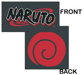 Naruto Shirts Black T-Shirt Naruto Logo with Seal Logo #NAAS007