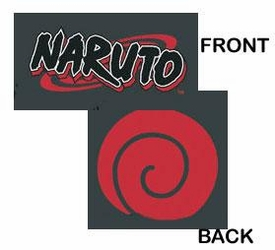 Naruto Adult T-Shirt Naruto Logo with Seal Extra Large #NAAS007