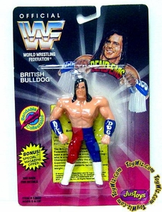 WWF / WWE Wrestling Superstars Bend-Ems Figure Series 1 British Bulldog