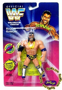WWF / WWE Wrestling Superstars Bend-Ems Figure Series 1 Razor Ramon