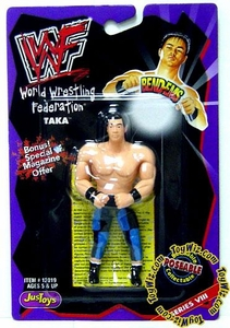 WWF / WWE Wrestling Superstars Bend-Ems Figure Series 8 Taka