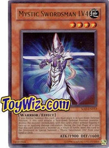 YuGiOh Soul of the Duelist Ultra Rare Single Card SOD-EN012 Mystic Swordsman LV4