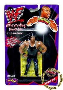 WWF / WWE Wrestling Superstars Bend-Ems Figure Series 13 D' Lo Brown