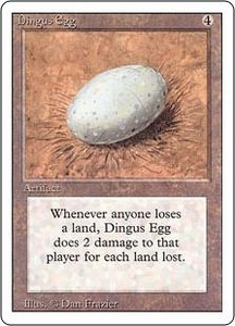 Magic the Gathering Revised Edition Single Card Rare Dingus Egg Heavily Played Condition