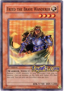 YuGiOh Invasion of Chaos Single Card Super Rare IOC-014 Freed The Brave Wanderer