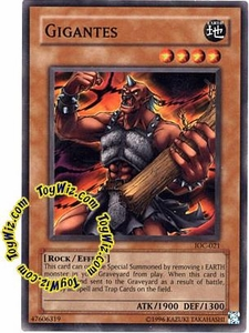 YuGiOh Invasion of Chaos Single Card Common IOC-021 Gigantes