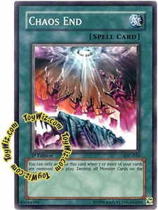 YuGiOh Invasion of Chaos Single Card Common IOC-036 Chaos End