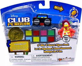 Disney Club Penguin Series 6 Mix 'N Match Mini Figure Pack Cadence [Includes Coin with Code!] Chase Piece!