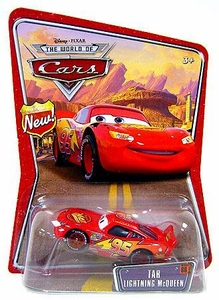 Disney / Pixar CARS Movie 1:55 Die Cast Car Series 3 World of Cars Tar Lightning McQueen