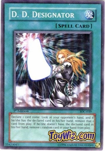 YuGiOh Invasion of Chaos Single Card Super Rare IOC-039 D.D. Designator