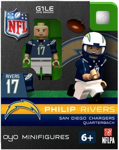 OYO Football NFL Building Brick Minifigure Philip Rivers [San Diego Chargers]