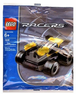 LEGO Racers Mini Figure Set #4308 Yellow Racer [Bagged]