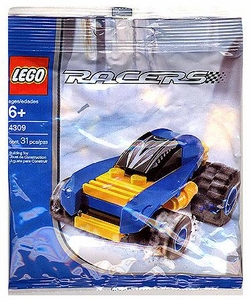 LEGO Racers Mini Figure Set #4309 Blue Racer [Bagged]