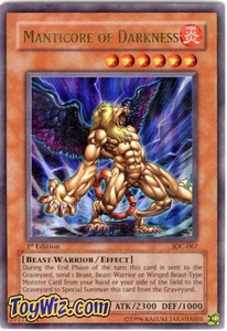 YuGiOh Invasion of Chaos Single Card Ultra Rare IOC-067 Manticore of Darkness