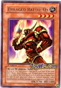 YuGiOh Invasion of Chaos Single Card Rare IOC-070 Enraged Battle Ox