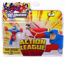 DC Universe Action League Mini Figure Atom & Plastic Man Glider