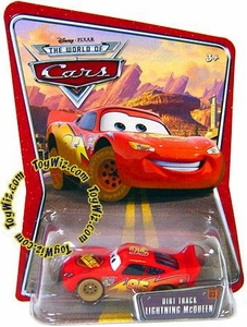 Disney / Pixar CARS Movie 1:55 Die Cast Car Series 3 World of Cars Dirt Track Lightning McQueen