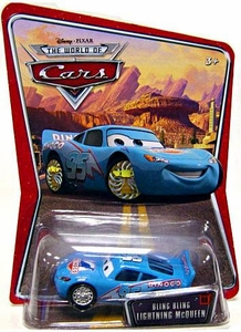 Disney / Pixar CARS Movie 1:55 Die Cast Car Series 3 World of Cars Bling Bling Lightning McQueen