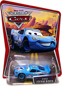 Disney / Pixar CARS Movie 1:55 Die Cast Car Series 3 World of Cars Dinoco Lightning McQueen [Blue]