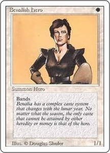 Magic the Gathering Revised Edition Single Card Common Benalish Hero Slightly Played Condition Not Mint
