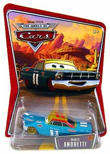Disney / Pixar CARS Movie 1:55 Die Cast Car Series 3 World of Cars Mario Andretti