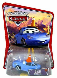 Disney / Pixar CARS Movie 1:55 Die Cast Car Series 3 World of Cars Sally with Cone