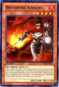 YuGiOh Zexal Cosmo Blazer Single Card Rare CBLZ-EN037 Brushfire Knight