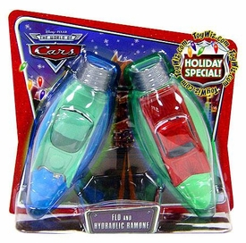 Disney / Pixar CARS Movie 1:55 Die Cast Car Series 3 World of Cars Holiday Special 2-Pack Flo & Hydraulic Ramone