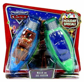 Disney / Pixar CARS Movie 1:55 Die Cast Car Series 3 World of Cars Holiday Special 2-Pack Mater & Doc Hudson