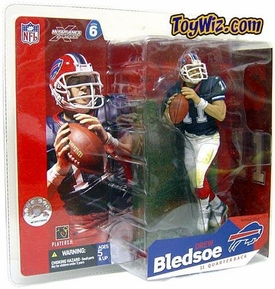 McFarlane Toys NFL Sports Picks Series 6 Action Figure Drew Bledsoe (Buffalo Bills) Blue Jersey BLOWOUT SALE!