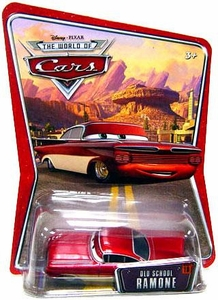 Disney / Pixar CARS Movie 1:55 Die Cast Car Series 3 World of Cars Old School Ramone [Red & White]