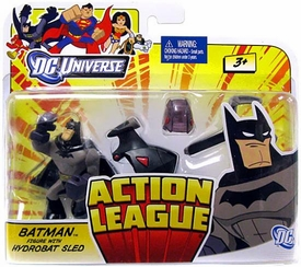 DC Universe Action League Mini Figure Batman with Hydrobat Sled