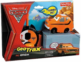 Disney / Pixar CARS 2 Movie Geotrax Turbo RC Vehicle Grem