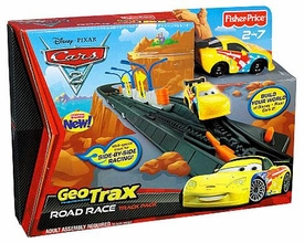 Disney / Pixar CARS 2 Movie Geotrax Road Race Track Pack [Includes Jeff Gorvette]