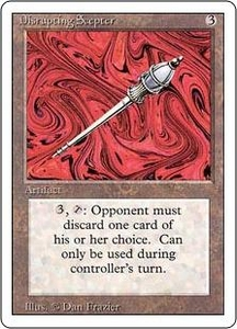 Magic the Gathering Revised Edition Single Card Rare Disrupting Scepter