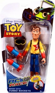 Disney / Pixar Toy Story RC's Race Action Figure Woody with Turbo Rockets