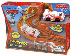 Disney / Pixar CARS 2 Movie Geotrax Dirt Race Track Pack [Includes Shu Todoroki]
