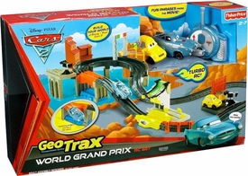 Disney / Pixar CARS 2 Movie Geotrax Playset World Grand Prix RC Set